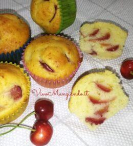 Muffin alle ciliegie, morbidissimi per più giorni