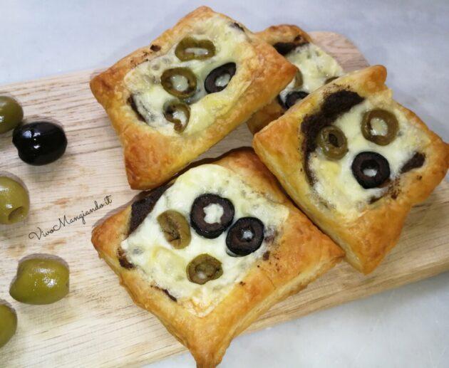 sfogliatine con paté di olive