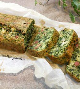 Plumcake salato spinaci e pancetta
