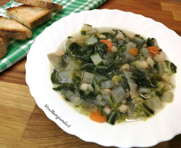 zuppa di bietole e cannellini