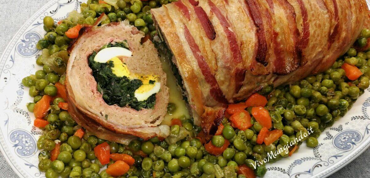 polpettone con spinaci e bacon