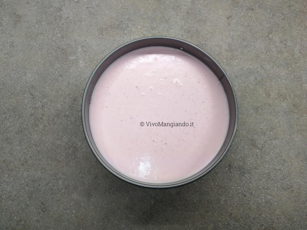 torta fredda yogurt e fragole
