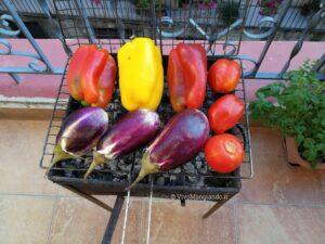 verdure arrostite e condite