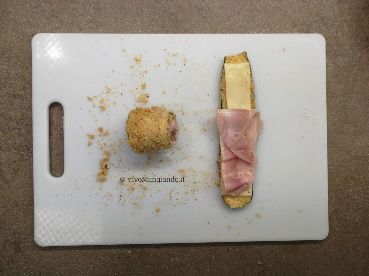involtini di zucchine prosciutto e formaggio