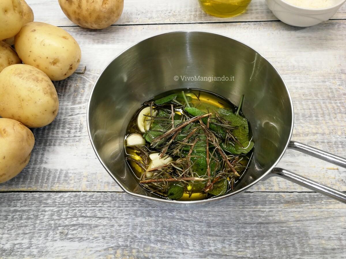 patate al forno schiacciate